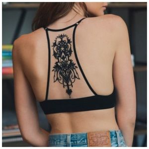 New lightweight black tattoo bralette
